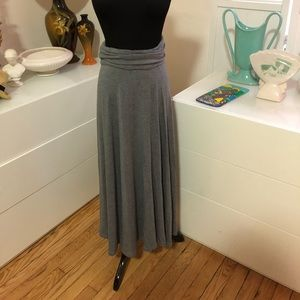 Grey maxi skirt size small